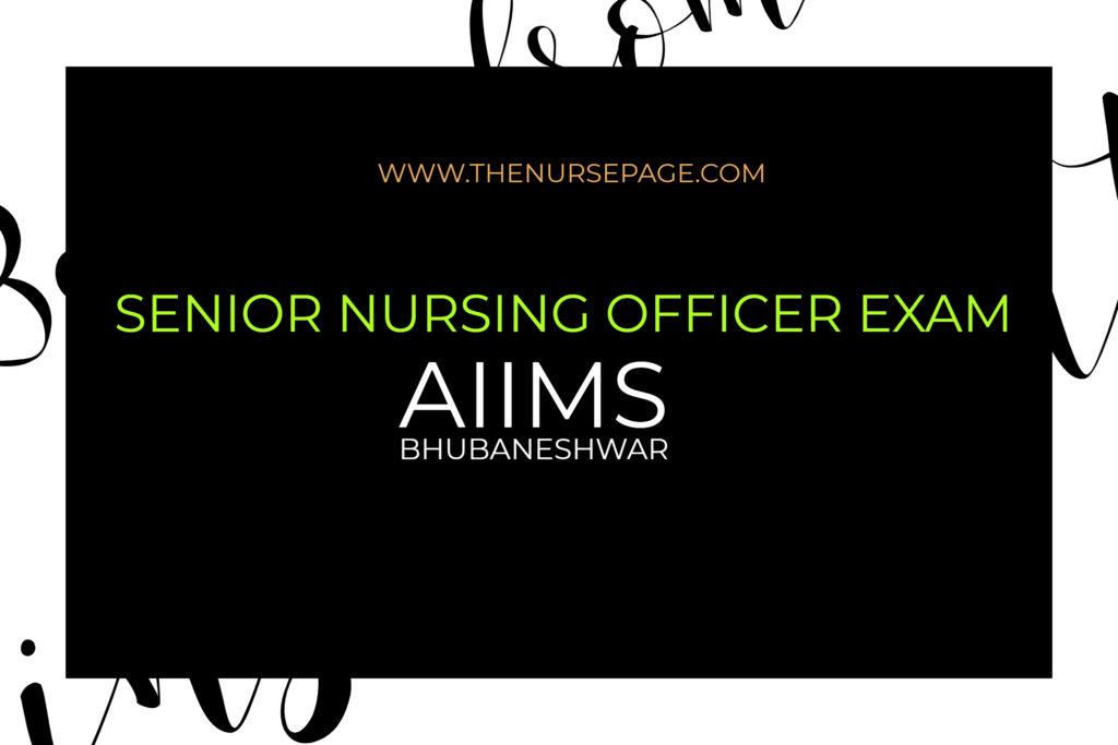 aiims senior nursing officer exam