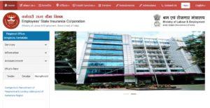 esic karnataka revised posts