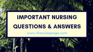 Important Nursing Questions