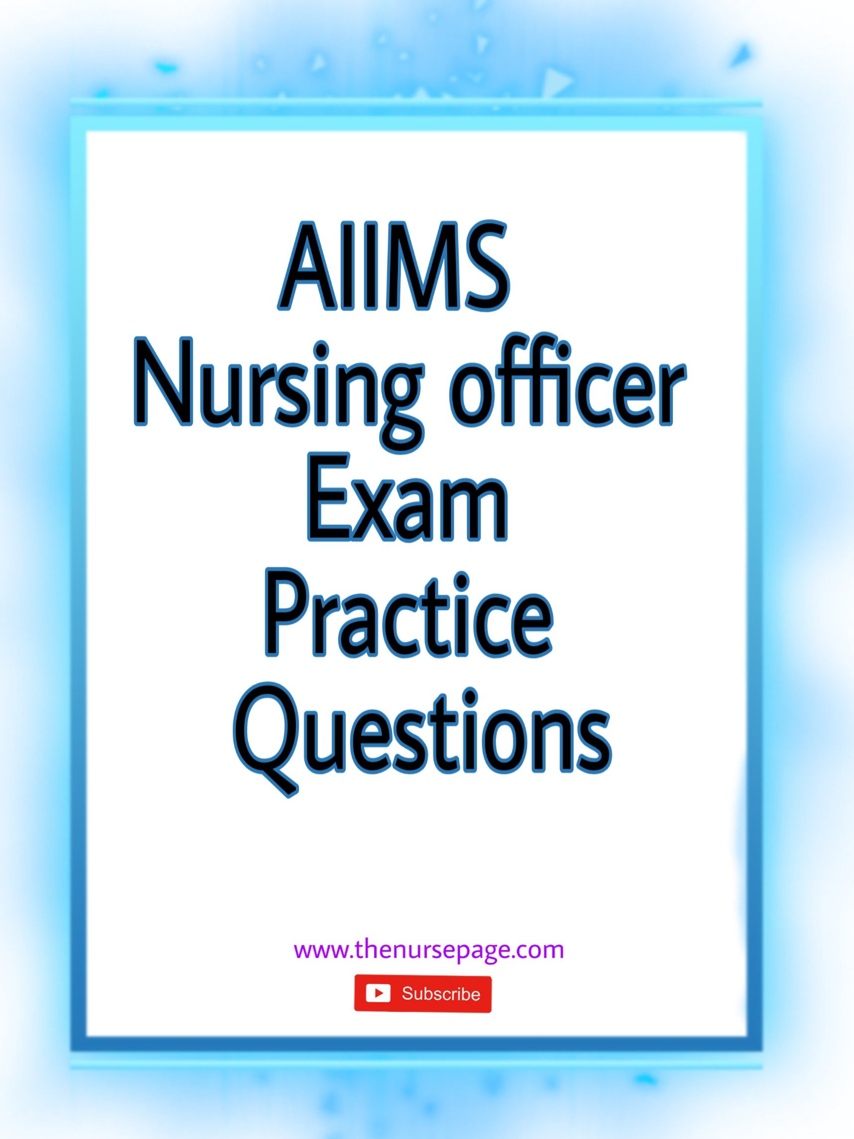 aiims nursing officer exam practice questions