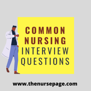 common nursing interview questions